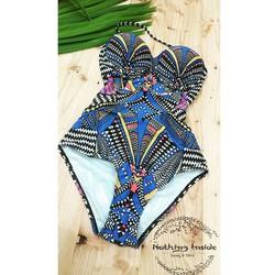 Bikini 1 mảnh họa tiết cúp ngực