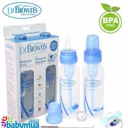 Bộ 2 bình sữa Dr. Brown cổ thường 250ml