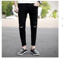 Quần jeans nam rách gối cá tính