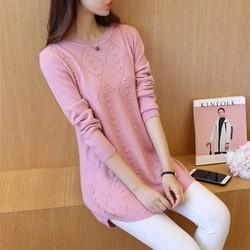 Áo len dệt kim dáng dài thời trang - AL040