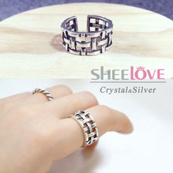 Nhẫn bạc 925 cá tính phong cách Hàn Quốc cao cấp đặc biệt