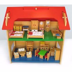 Đồ chơi cho bé gái nhà búp bê 2 tầng nhỏ Alengkeng MT37