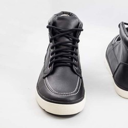NEXT - Black Leather High Top Trainers