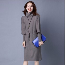 Đầm len suông cổ lọ thời trang cao cấp 2016 - SP8677