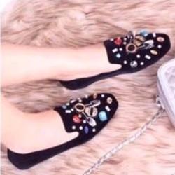giày mọi đính hạt đá màu cao cấp