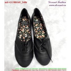 Giày boot nữ da trơn cho phái đẹp sành điệu GUBB169