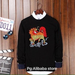 Áo len kiểu hoa văn phong cách - Hàng Quảng Châu mới về