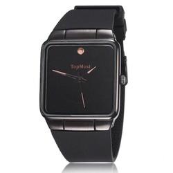 đồng hồ dây cao su mặt vuông