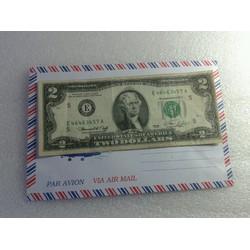 Tiền 2 usd mỹ 1976 cũ dola may mắn