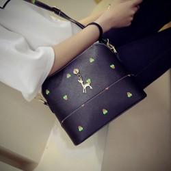 Túi đeo chéo nữ  họa tiết xinh xắn TX23