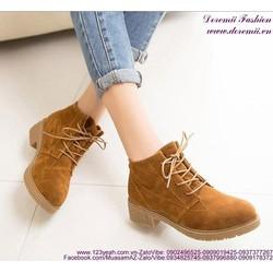 Giày boot nữ thu đông phong cách tự tin sành điệu GUBB159