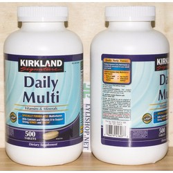 Bổ sung vitamin tổng hợp từ Mỹ Daily Multi Kirkland hộp 500 viên.