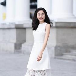 Đầm Chữ A Phối Ren Lai - D394
