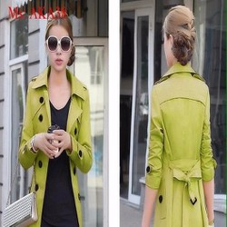 Áo khoác vest nữ form dài cột eo xinh đẹp AKA38