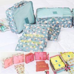 Set trọn bô 6 túi du lich hoạ tiết tiện dụng