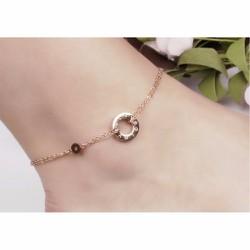 Lắc chân nữ thời trang Catier màu vàng hồng - TA086