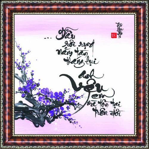 Tranh thư pháp vẽ tay tình yêu - 4098869 , 4420477 , 15_4420477 , 299000 , Tranh-thu-phap-ve-tay-tinh-yeu-15_4420477 , sendo.vn , Tranh thư pháp vẽ tay tình yêu