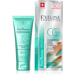 CC Cream Eveline 8 in 1 SOS - Cấp cứu cho da mụn mẩn đỏ