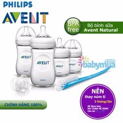 Bộ bình sữa Avent Natural