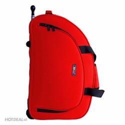 Túi Du Lịch Có Cần Kéo Macat Innova 1S màu đen và đỏ