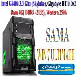 Máy tính GIGABYTE H110,G 4400 3.3GHZ,Ram 4G,HDD 250G-New
