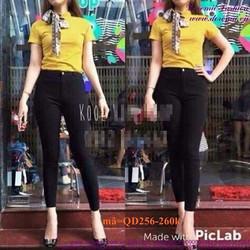Quần jean nữ lưng cao 1 nút form chuẩn đẹp QD256