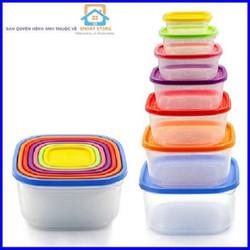 Bộ 7 hộp bảo quản thực phẩm đa năng
