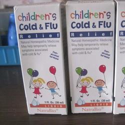 Siro đặc trị cảm cúm cho bé Cold và Flu Mỹ 30ml cho bé 4 tháng trở lên
