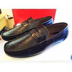 giày lười da sần kỳ đà new GKen 411
