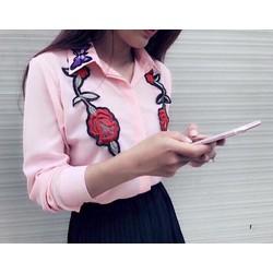 Áo somi hoa hồng