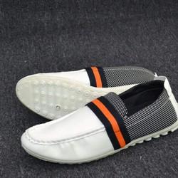 Giày Lười nam thời trang màu trắng