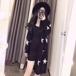 Áo khoác len ngôi sao form dài _MỎ CHU SHOP