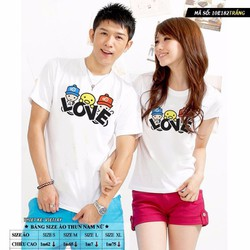 10e182 áo thun cặp chữ LOVE