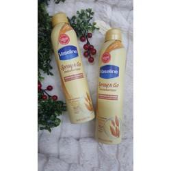 Xịt dưỡng thể Vaseline Spray Go Moisturizer