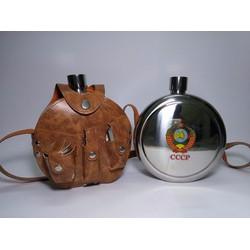Bình tông inox đựng rượu 1,2 lít hình tròn, full phụ kiện
