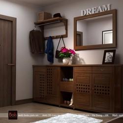 Tủ giày gỗ sồi 1TG011