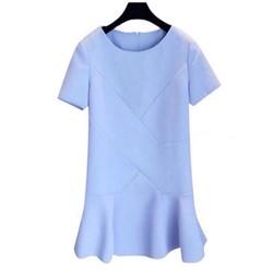 Đầm suông xanh nhạt