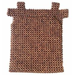 Lót ghế ô tô hạt gỗ hương mộc hạt 1,2cm