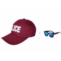 Nón Kaki Nam Nữ Police Cá Tính + tặng kính V màu xanh trẻ trung