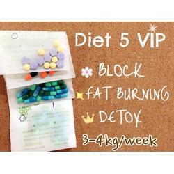 giảm cân diet vip 5 hoa tím 1 tuần