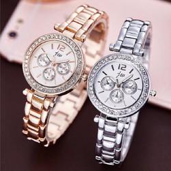 Đồng hồ thời trang nữ cao cấp JW mặt đính cườm HC6005