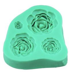 Khuôn silicon 3D mẫu 4 hoa hồng - 8 x 52 cm - TC3916