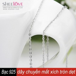 Dây chuyền bạc 925 mắt xích tròn dẹt thời trang xinh xắn SN-L03
