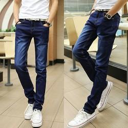 Quần Jeans Nam Xanh Đen Wax Màu
