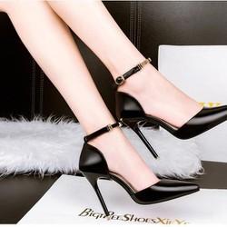 Giày gót nhọn thanh lịch Senko- ĐEN - YT256