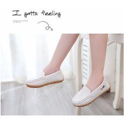 Giày mọi trắng cho bé trai gái