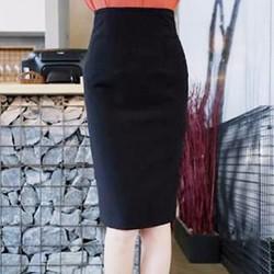 Váy bút chì dài xẻ sau-Vay02809