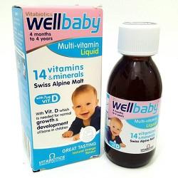 Vitamin tổng hợp cho bé Wellbaby xách tay Anh