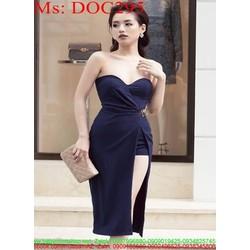 Đầm ôm cúp ngực kiểu xẻ tà sành điệu thời trang DOC295  10: