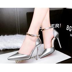 Giày gót nhọn thanh lịch Senko-XÁM-YT255
